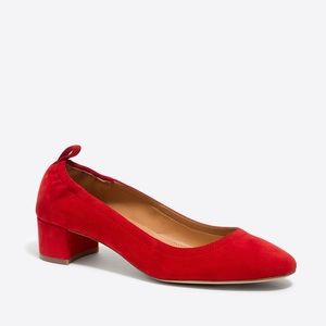 New Jcrew Anya suede block heels